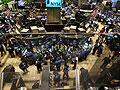 Traders on the floor of the New York Stock Exchang