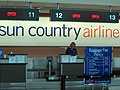 Sun Country check-in counter