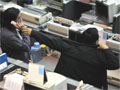 Traders at the Indonesian Stock Exchange