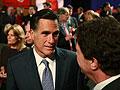 Mitt Romney attends the final debate in New York