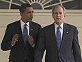 President Bush leads Obama through the White House