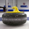 A curling stone on the ice