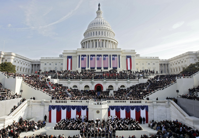 People fill the West Front of the Capitol ahead of the inauguration of Barack Obama as the 44th President of the United States of America on the West Front of the Capitol January 20, 2009 in Washington, DC.