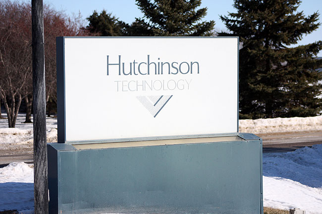 Hutchinson Technology is the largest employer in Hutchinson, which has a population of about 14,000 people. The company has laid off nearly 40 percent of its workforce in the last several months.