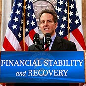 Geithner outlines Treasury's new financial plan