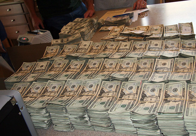 Biggest Drug Bust Money