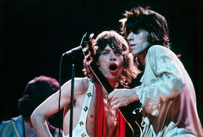 "Bob Gruen photo ""Keith & Mick"" taken at their concert at Madison Square Garden in 1972"