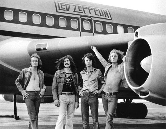 "Led Zeppelin ""In Front Of Plane"" - 1973"