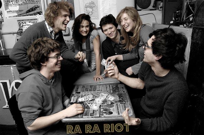 The members of Ra Ra Riot