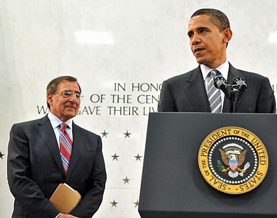 Obama and Panetta earlier this year at the CIA