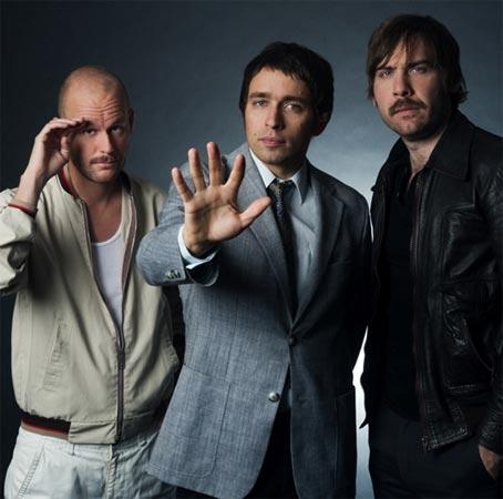 John Eriksson, Peter Moren and Bjorn Yttling of the the Swedish trio Peter Bjorn and John.