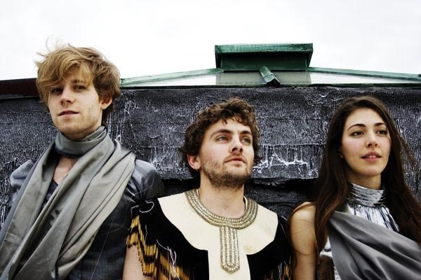 Aaron Pfenning, Patrick Wimberly and Caroline Polachek of Chairlift