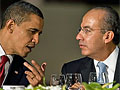 Obama and Mexican President Felipe Calderon