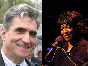 Poets Robert Pinsky and Rita Dove.