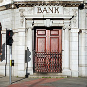 A closed bank