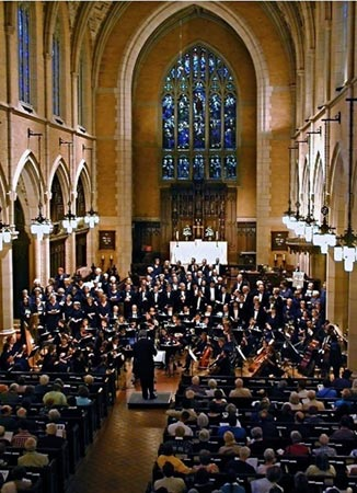 "A performance with choirs, orchestra and Music Director Raymond Johnston conducting in the sanctuary of St. Mark's Cathedral, Minneapolis. This weekend, audiences will hear a brand new ""old"" work by Ralph Vaughan Williams."