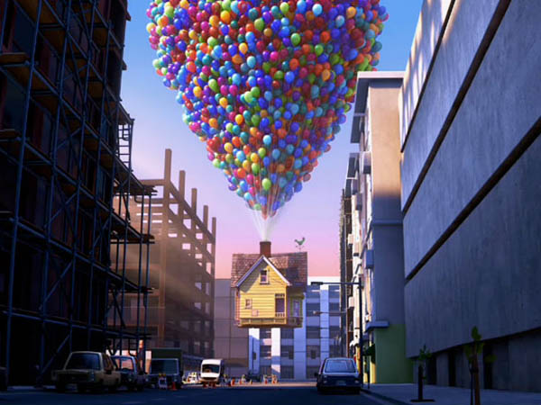 "In the new Pixar movie ""Up"" a 78-year-old man decides to chase his dreams by tying thousands of balloons to his house and floating away. Bloomington native Pete Docter wrote and directed the film."