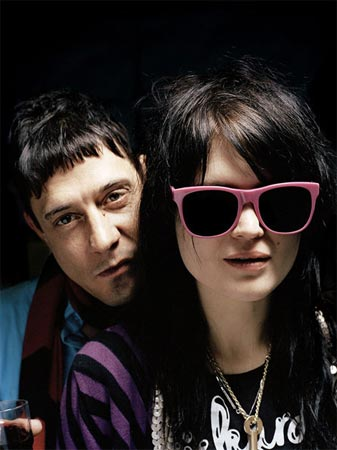 Hotel (a.k.a. Jamie Hince and VV (a.k.a. Alison Mosshart) of The Kills