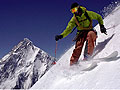 Skiing on Broad Peak