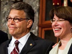 Senator Al Franken and Senator Amy Klobuchar