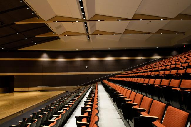 Farmington High school includes a recital hall inside seats nearly 800, though it will be used mainly for musicals and other music shows.  Theatrical shows will continue to be performed at the old high school -- which has been converted to now serve as a middle school.