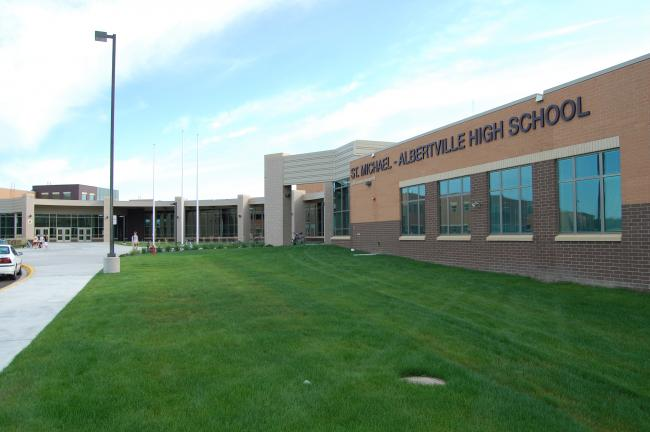 The St. Michael-Albertville School district is opening a new $70 million high school; the old high school has been converted to serve as the district's second middle school.
