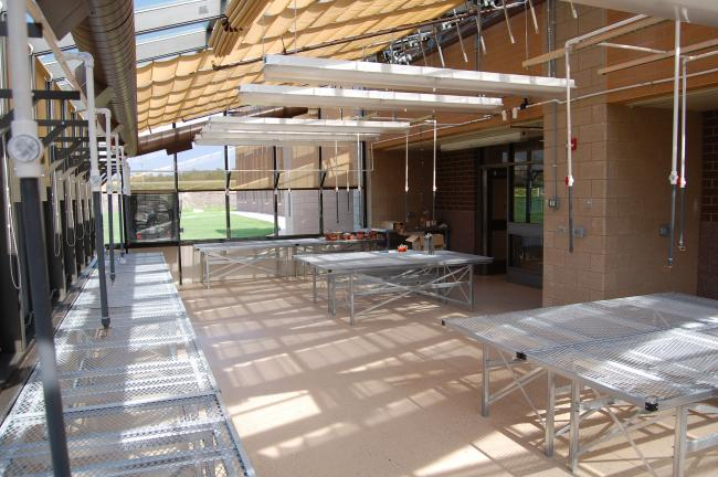 The new St. Michael-Albertville High School includes a greenhouse that will be utilized for horticulture classes.