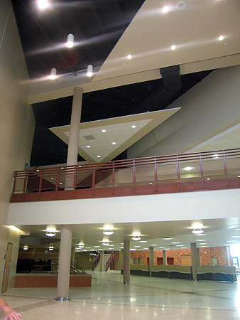 An open area at the new East Ridge High School in Woodbury, Minn.