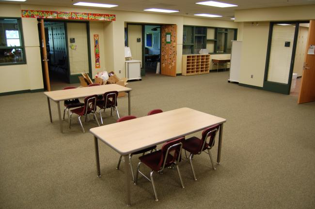 Classrooms at the new Redtail Ridge Elementary School in Savage are clustered, so each grade is grouped around a common room.  The common room will allow grades to meet as a whole from time to time.