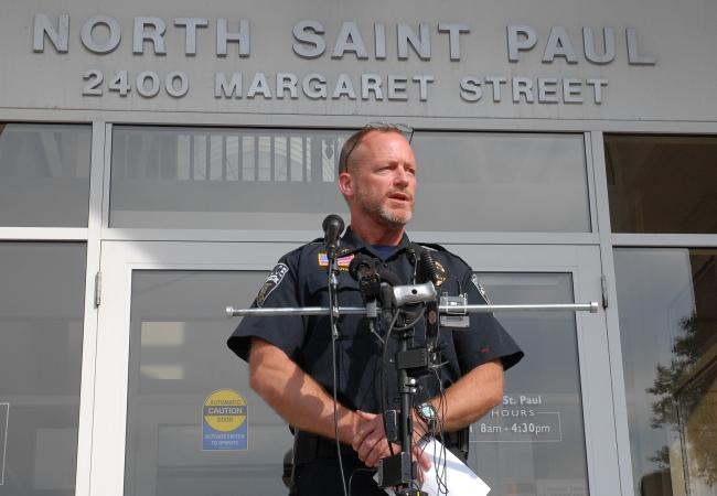 North St. Paul Police Chief Tom Lauth spoke to the media on Tuesday afternoon.