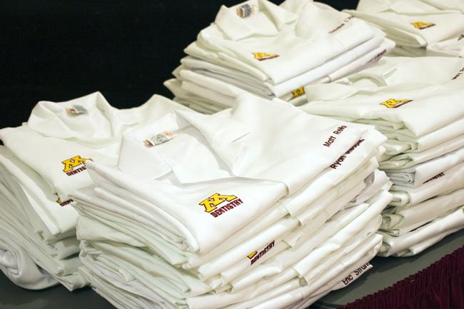 Dental therapy students were among those to receive white coats at a University of Minnesota ceremony last week.