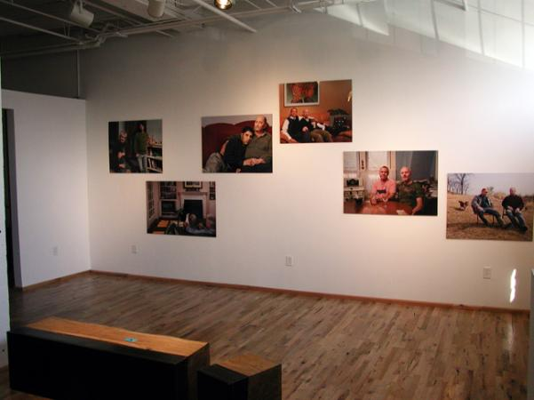 A photography exhibit on display in the office of Dr. Sam Willis in Northeast Minneapolis.