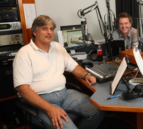 Brian Balogh, left, and Ed Ayers, right, are two of the co-hosts of Backstory with the American History Guys, which looks at the historical roots of current events.