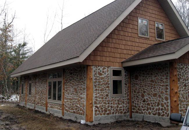 builder hoping cordwood home design catches on
