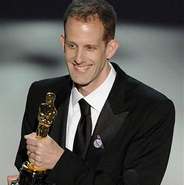Pete Docter accepts the Oscar for best animated feature film of the year for ?Up? at the 82nd Academy Awards Sunday, March 7, 2010, in the Hollywood section of Los Angeles.