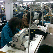 Peak labor in China - garment factory