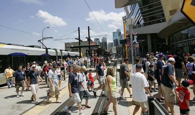 target field twins. Target Field attracts fans who