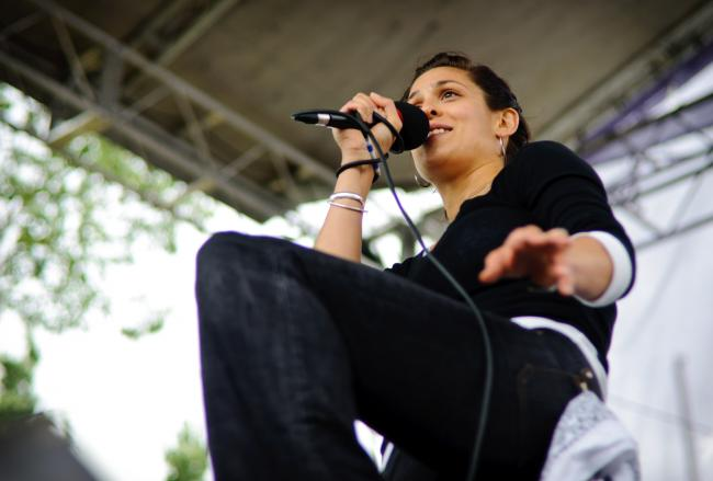 Doomtree-affiliated songstress Dessa at the Minnesota State Fair
