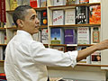 Obama shops for books