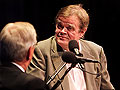 Walter Mondale talks with Garrison Keillor