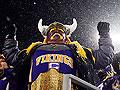 Vikings fans cheer