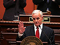 Gov. Mark Dayton delivers his speech