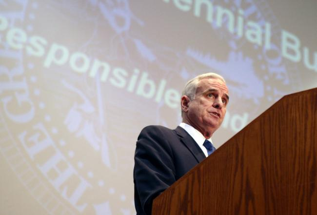 minnesota governor mark dayton. Gov. Mark Dayton presents his