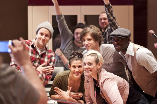 Sims and the Doomtree choir
