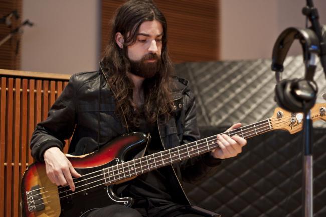 Bass player Jeremy Kay