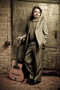 Local gypsy jazz guitarist Reynold Philipsek