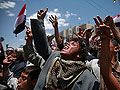 Anti-government protestors  in Yemen