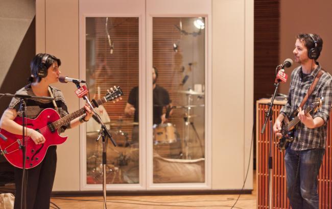 Sharon Van Etten in The Current studio.