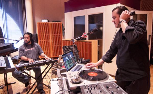 Atmosphere performing in the Current studio.