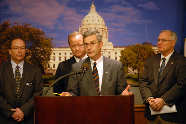 Same-sex marriage amendment sponsors. Sen. Ron Latz, DFL-St. Louis Park, ...